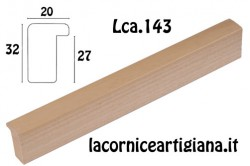LCA.143 CORNICE 17,6X25 B5 CON BATTENTE ALTO NATURALE OPACO CON VETRO