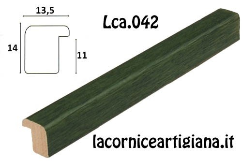 LCA.042 CORNICE 13X19 BOMBERINO VERDE OPACO CON VETRO