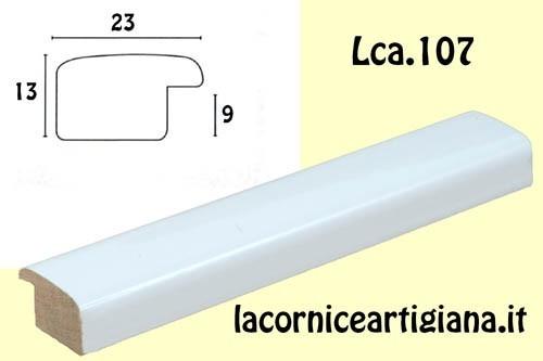 LCA.107 CORNICE 30X40 BOMBERINO BIANCO LUCIDO CON VETRO