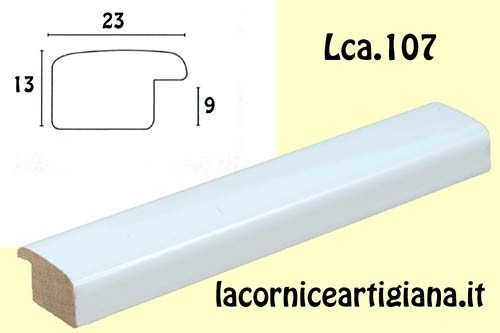 LCA.107 CORNICE 17,6X25 B5 BOMBERINO BIANCO LUCIDO CON VETRO