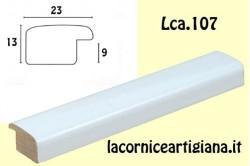 LCA.107 CORNICE 12X16 BOMBERINO BIANCO LUCIDO CON VETRO