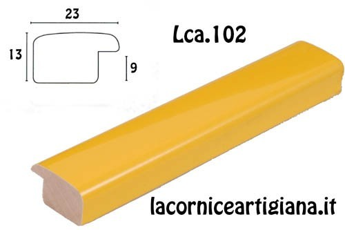 LCA.102 CORNICE 21X29,7 A4 BOMBERINO GIALLO LUCIDO CON VETRO