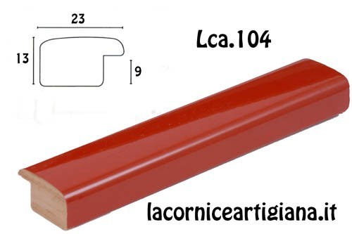 LCA.104 CORNICE 32X44 PR BOMBERINO ROSSO LUCIDO CON VETRO