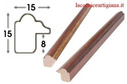 LCA.008 CORNICE 30X50 SAGOMATA NOCE FILO ORO CON CRILEX