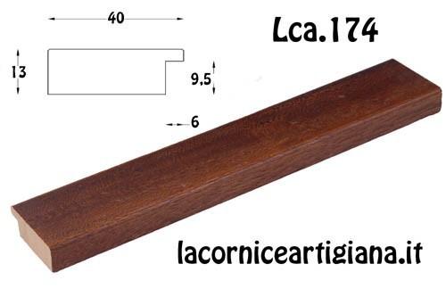 LCA.174 CORNICE 10X13 PIATTINA NOCE CON VETRO