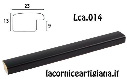 LCA.014 CORNICE 50X70 BOMBERINO NERO OPACO CON CRILEX
