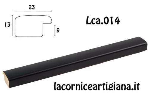 LCA.014 CORNICE 40X50 BOMBERINO NERO OPACO CON CRILEX