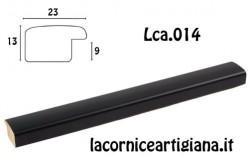 LCA.014 CORNICE 17,6X25 B5 BOMBERINO NERO OPACO CON VETRO