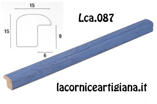 LCA.087 CORNICE 21X29,7 A4 BOMBERINO BLU OPACO CON VETRO