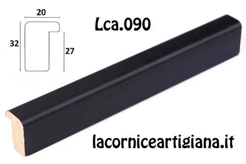 LCA.090 CORNICE 20X30 BATTENTE ALTO NERO OPACO CON VETRO