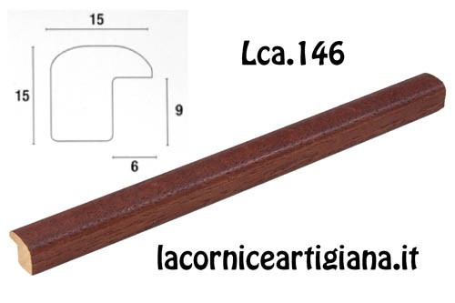 LCA.146 CORNICE 12X18 BOMBERINO NOCE OPACO CON VETRO
