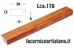 LCA.178 CORNICE 40X60 PIATTINA MARRONE SPAZZOLATO CON CRILEX