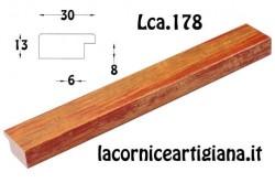 LCA.178 CORNICE 35X52 PIATTINA MARRONE SPAZZOLATO CON CRILEX
