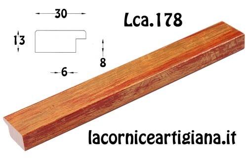 LCA.178 CORNICE 15X22 PIATTINA MARRONE SPAZZOLATO CON VETRO