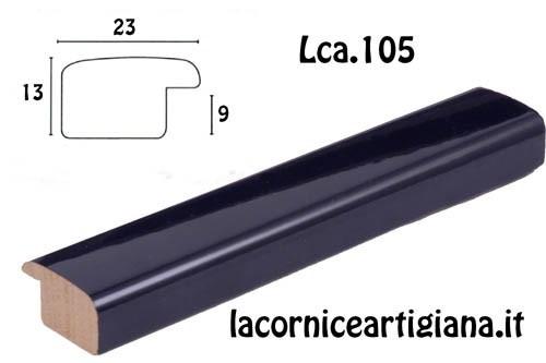 LCA.105 CORNICE 10X13 BOMBERINO BLU LUCIDO CON VETRO