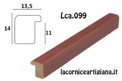 LCA.099 CORNICE 20X25 BOMBERINO MOGANO OPACO CON VETRO