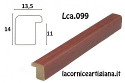 LCA.099 CORNICE 17,6X25 B5 BOMBERINO MOGANO OPACO CON VETRO