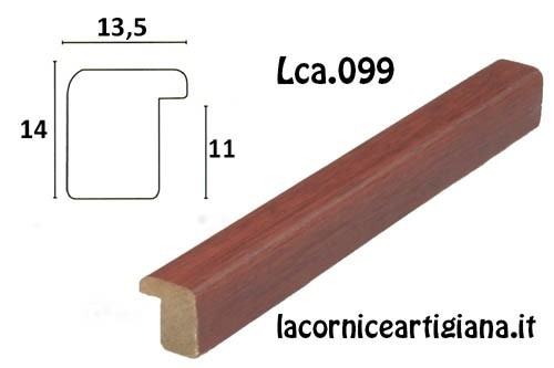LCA.099 CORNICE 13X17 BOMBERINO MOGANO OPACO CON VETRO