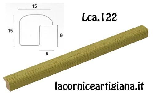 LCA.122 CORNICE 30X80 BOMBERINO VERDE OPACO CON CRILEX