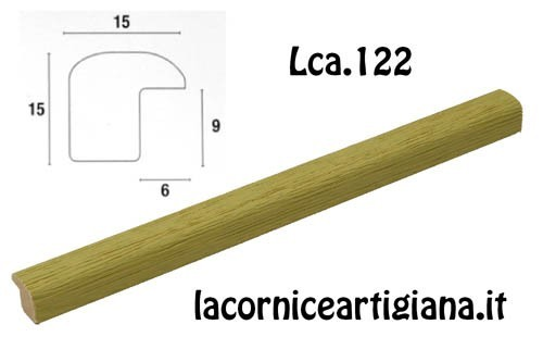 LCA.122 CORNICE 30X45 BOMBERINO VERDE OPACO CON VETRO