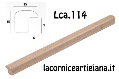 LCA.114 CORNICE 30X65 BOMBERINO NATURALE OPACO CON CRILEX