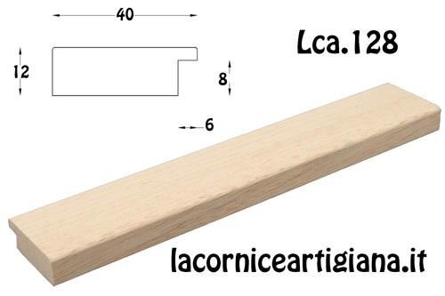 """LCA.128 CORNICE 30X40 PIATTINA GREZZA """"40"""" CON VETRO"""