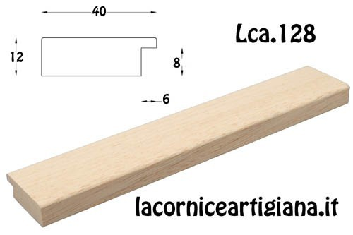 """LCA.128 CORNICE 13X19 PIATTINA GREZZA """"40"""" CON VETRO"""