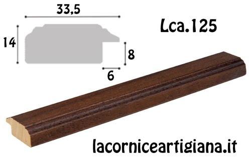 LCA.125 CORNICE 20X40 PIATTINA NOCE CON VETRO