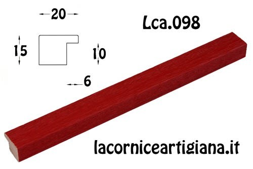 LCA.098 CORNICE 35,3X50 B3 PIATTINA ROSSO OPACO CON CRILEX