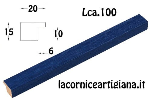 LCA.100 CORNICE 50X100 PIATTINA BLU OPACO CON CRILEX