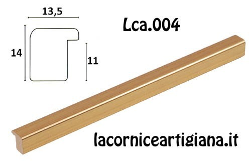 LCA.004 CORNICE 12X16 BOMBERINO ORO OPACO CON VETRO