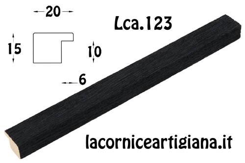 LCA.123 CORNICE 30X45 PIATTINA NERO OPACO CON VETRO