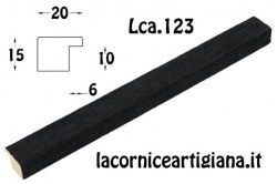 LCA.123 CORNICE 15X22 PIATTINA NERO OPACO CON VETRO