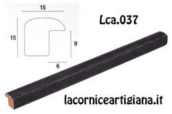 LCA.037 CORNICE 20X20 BOMBERINO NERO OPACO CON VETRO