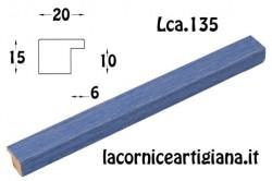 LCA.135 CORNICE 14,8X21 A5 PIATTINA AZZURRO OPACO CON VETRO