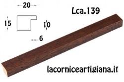 LCA.139 CORNICE 35X50 PIATTINA NOCE OPACO CON CRILEX