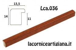 LCA.036 CORNICE 20X20 BOMBERINO CILIEGIO OPACO CON VETRO