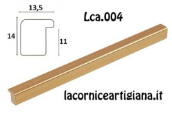 LCA.004 CORNICE 20X20 BOMBERINO ORO OPACO CON VETRO