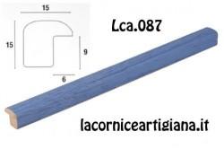 LCA.087 CORNICE 15X15 BOMBERINO BLU OPACO CON VETRO