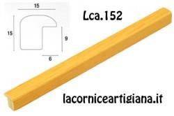 LCA.152 CORNICE 10X13 BOMBERINO GIALLO OPACO CON VETRO
