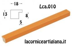 LCA.010 CORNICE 10X10 PIATTINA ARANCIO OPACO CON VETRO