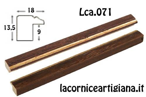 LCA.071 PORTAFOTO 17,6X25 B5 PIATTINA NOCE FILO ORO DA TAVOLO