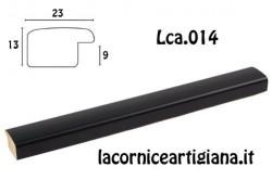 LCA.014 CORNICE 12X12 BOMBERINO NERO OPACO CON VETRO