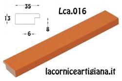LCA.016 CORNICE 12X12 PIATTINA ARANCIO OPACO CON VETRO