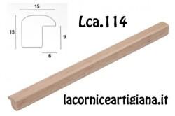 LCA.114 CORNICE 10X10 BOMBERINO NATURALE OPACO CON VETRO