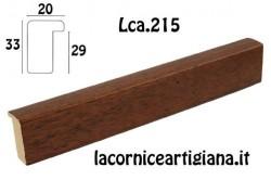 LCA.215 CORNICE 10X13 BATTENTE ALTO NOCE OPACO CON VETRO