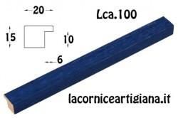 LCA.100 CORNICE 12X12 PIATTINA BLU OPACO CON VETRO