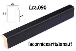 LCA.090 CORNICE 12X12 BATTENTE ALTO NERO OPACO CON VETRO