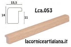 LCA.053 CORNICE 12X12 BOMBERINO NATURALE OPACO CON VETRO