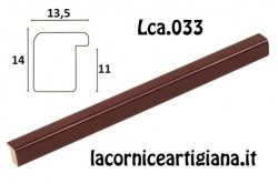 LCA.033 CORNICE 12X18 BOMBERINO BORDEAUX LUCIDO CON VETRO